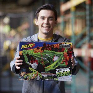 Nerf Zombie Strike Outbreaker (B9093) box live