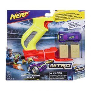 Nerf Nitro ThrottleShot Blitz с светло-зеленой рукоятью (C0783) box
