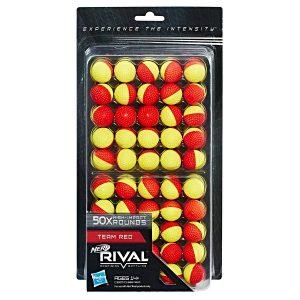 pack Nerf Rival, 50 красно-желтых шариков (C3907)