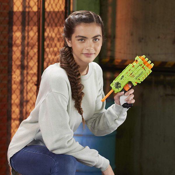 Пистолет Нерф Zombie Strike Quadrot (E2673) зеленый